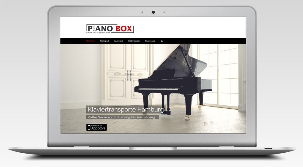 Webdesign Studio für PianoBox