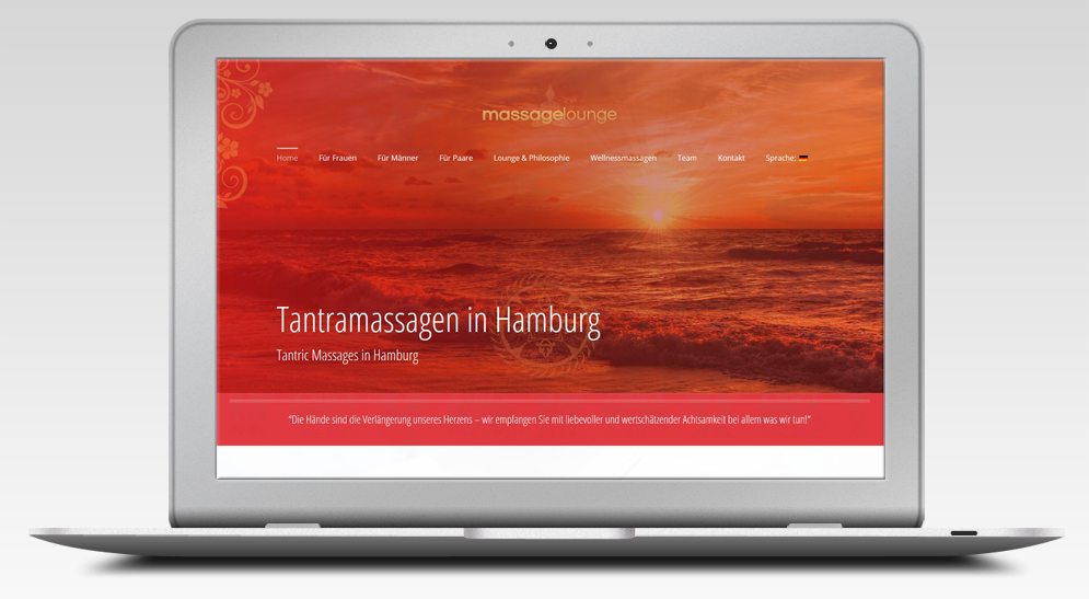 Webdesign Studio für Massagelounge Hamburg